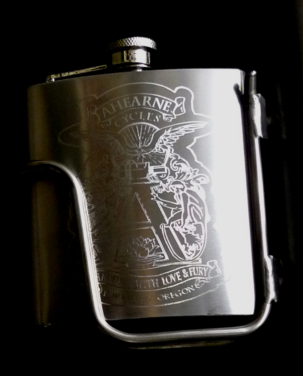 Custom Flask Ahearne Cycles