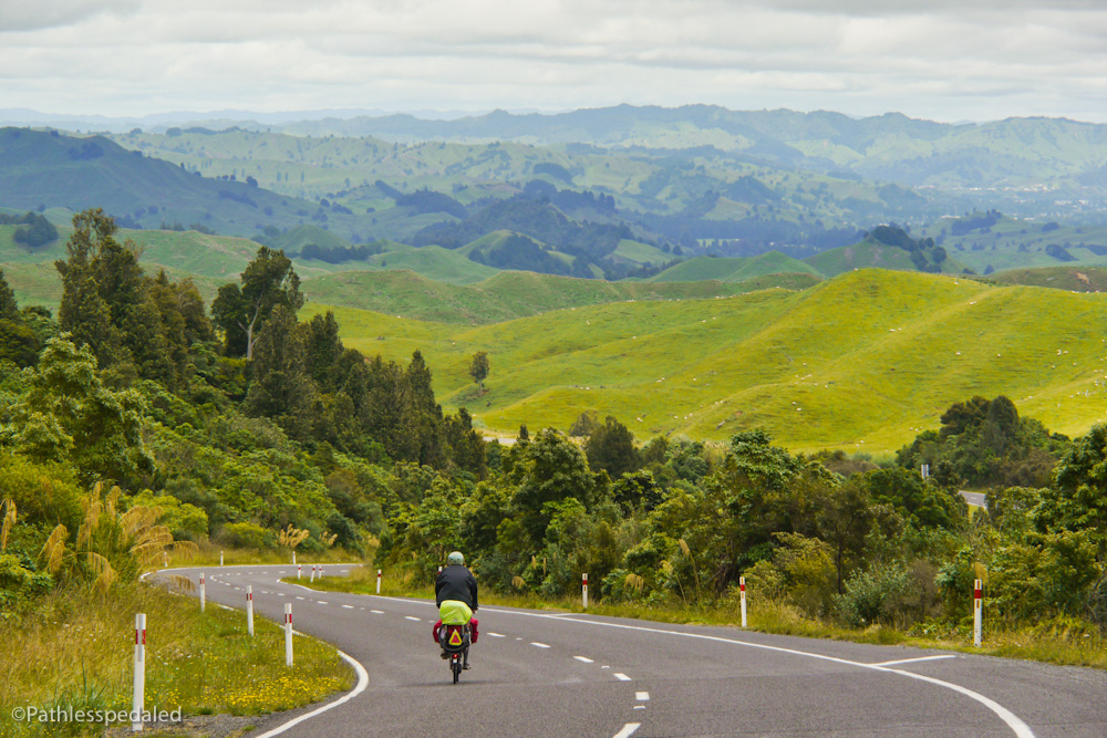 russ roca new zealand lost highway bicycle touring